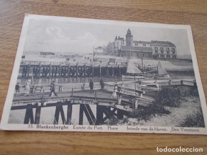 BLANKENBERGE. ENTREE DU PORT.. .. .CIRCULADA. 1930 (Postales - Postales Temáticas - Barcos)