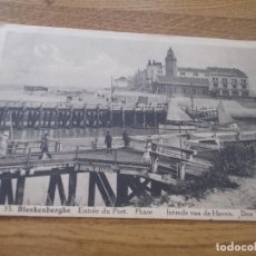 Postales: BLANKENBERGE. ENTREE DU PORT.. .. .CIRCULADA. 1930. Lote 106706655