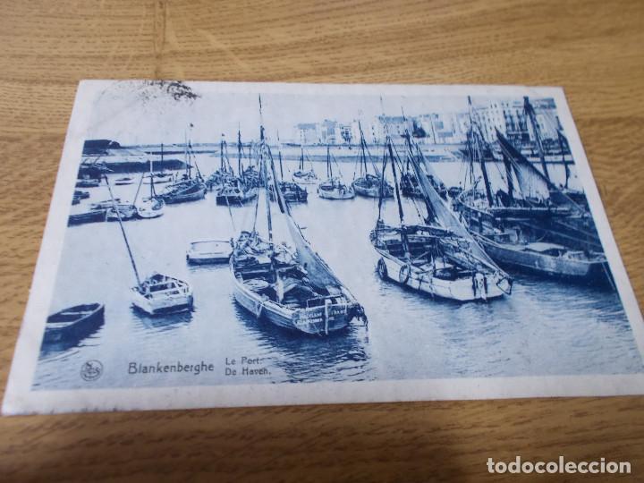 BLANKENBERGHE. LE PORT DE HAVEN.. CIRCULADA (Postales - Postales Temáticas - Barcos)