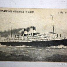 Postales: ANTIGUA POSTAL DE NAVIGAZIONE GENERALE ITALIANA. RE VITTORIO. SIN CIRCULAR. Lote 107192471