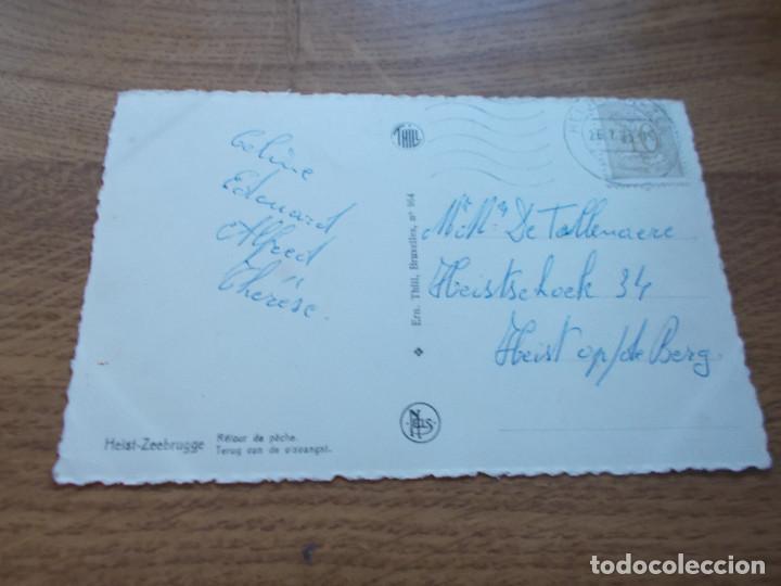 Postales: HEIST-ZEEBRUGGE. RETOUR DE PECHE. CIRCULADA - Foto 2 - 107588455