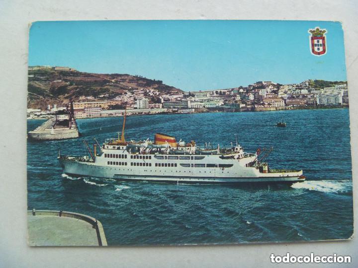POSTAL DE CEUTA : TRANSBORDADOR VIRGEN DE AFRICA . AÑOS 60 (Postales - Postales Temáticas - Barcos)