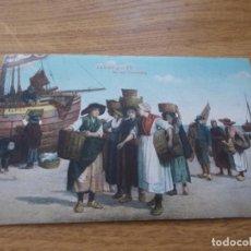 Postales: ZANDVOORT. NA DEN VISCHAFSLAG.. CIRCULADA 1912. Lote 109146395
