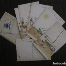Postales: COLECCION 12 POSTALES ANTIGUAS- DIBUJOS BARCOS- BOUISSET - VER FOTOS - (51.543). Lote 109835187