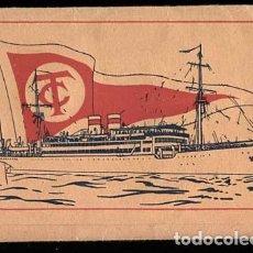 Postales: CARPETA QUE CONTIENE 11 POSTALES DE BARCO CIUDAD DE CADIZ. COMPAÑIA TRASMEDITERRANEA. ED DEO. Lote 112997427