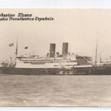 Postales: J. SEBASTIAN ELCANO - COMPAÑIA TRASATLANTICA ESPAÑOLA.. Lote 114968767