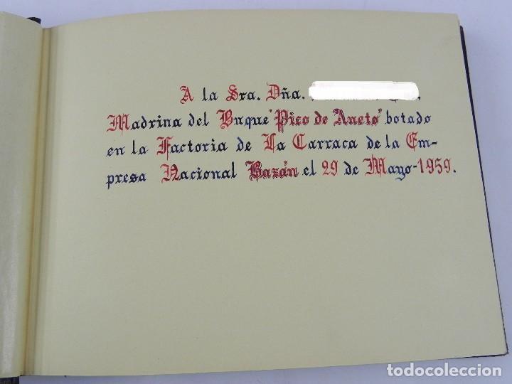 Postales: ALBUM CON 25 FOTOGRAFIAS DE LA BOTADURA DEL BUQUE PICO DE ANETO, FABRICADO EN LA FACTORIA DE LA CARR - Foto 3 - 115162923