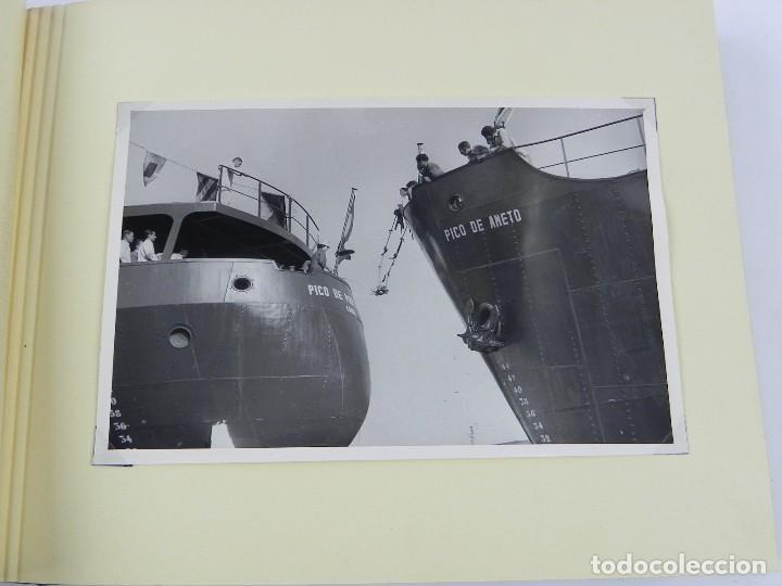 Postales: ALBUM CON 25 FOTOGRAFIAS DE LA BOTADURA DEL BUQUE PICO DE ANETO, FABRICADO EN LA FACTORIA DE LA CARR - Foto 5 - 115162923