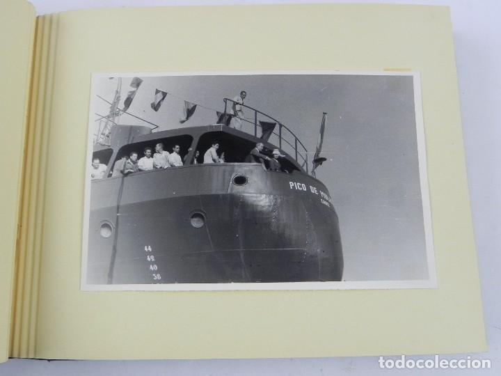 Postales: ALBUM CON 25 FOTOGRAFIAS DE LA BOTADURA DEL BUQUE PICO DE ANETO, FABRICADO EN LA FACTORIA DE LA CARR - Foto 6 - 115162923