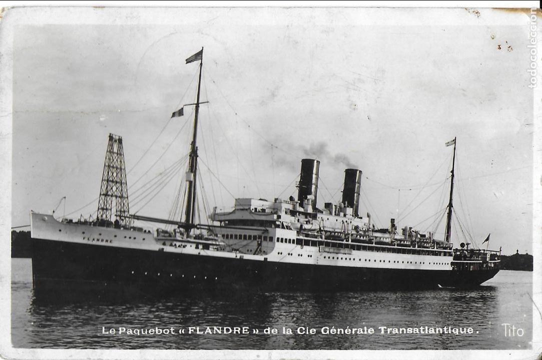 P- 8162. POSTAL LE PAQUEBOT FLANDRE DE LA CIE.GENERALE TRANSATLANTIQUE. (Postales - Postales Temáticas - Barcos)