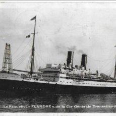 Postales: P- 8162. POSTAL LE PAQUEBOT FLANDRE DE LA CIE.GENERALE TRANSATLANTIQUE.. Lote 115801815