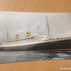 Postales: ANTIGUA POSTAL BARCO NIEUW AMSTERDAM PAQUEBOT 1953. Lote 116361447