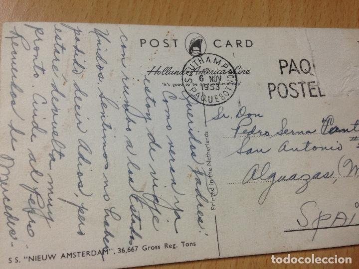 Postales: ANTIGUA POSTAL BARCO NIEUW AMSTERDAM PAQUEBOT 1953 - Foto 2 - 116361447