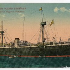 Postales: MARINA DE GUERRA ESPAÑOLA. HISTÓRICA FRAGATA NUMANCIA.. Lote 118443367