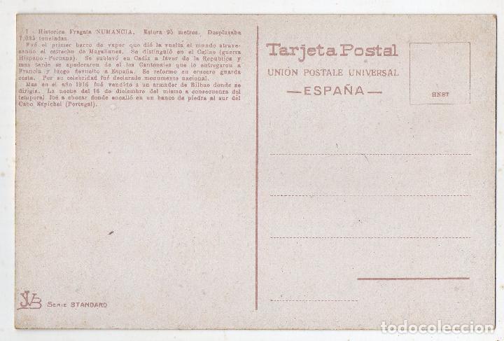 Postales: Marina de Guerra Española. Histórica Fragata Numancia. - Foto 2 - 118443367