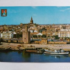 Postales: TARJETA POSTALES - ESPAÑA - SEVILLA - TORRE DEL ORO Y GIRALDA - VISTA PARCIAL - BARCOS. Lote 118531023