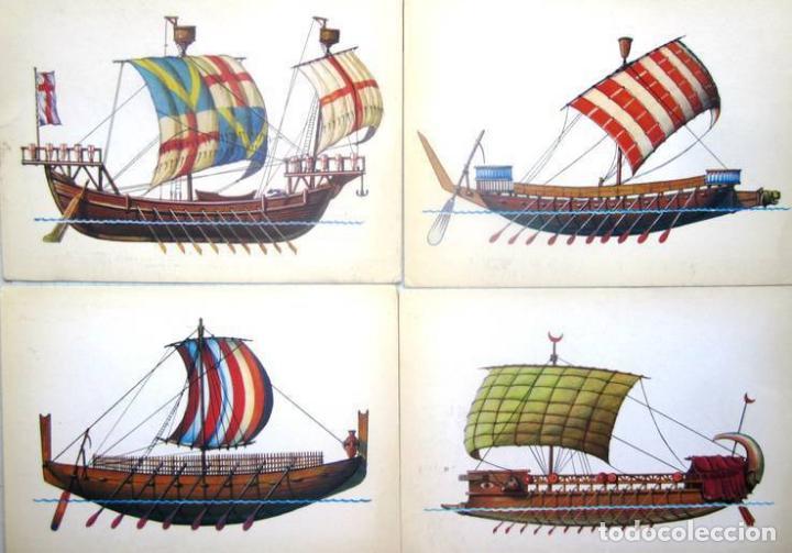 Postales: Juego de 32 postales sovieticas.Historia de barco .p-1.URSS.Moscou 1982 a - Foto 4 - 120831383