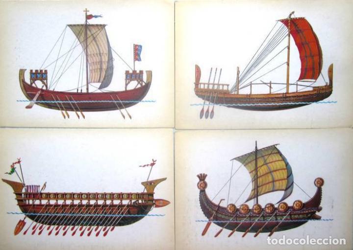 Postales: Juego de 32 postales sovieticas.Historia de barco .p-1.URSS.Moscou 1982 a - Foto 5 - 120831383