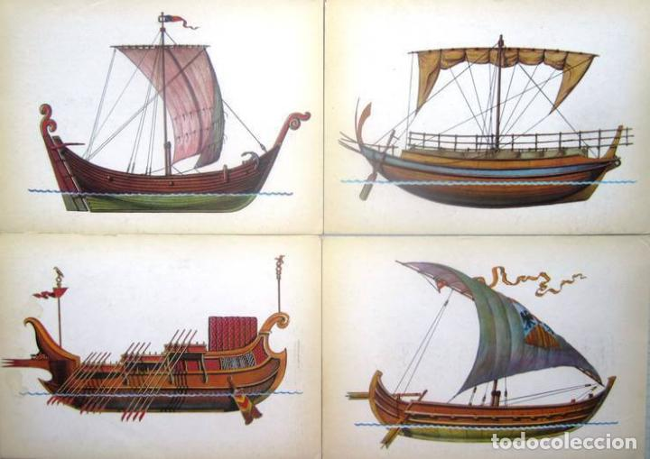 Postales: Juego de 32 postales sovieticas.Historia de barco .p-1.URSS.Moscou 1982 a - Foto 7 - 120831383