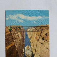 Postales: POSTAL - 396 CORINTHE  EL CANAL - BARCO. Lote 120925263