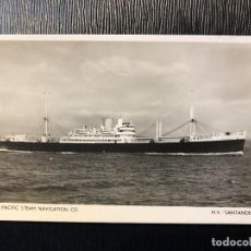 Postales: POSTAL THE PACIFIC STEAM NAVIGATION CO M V SANTANDER . Lote 121170751