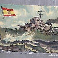 Postales: TARJETA POSTAL BARCOS - CHOCOLATE LA ESTRELLA. ESPAÑA. CRUCERO CANARIAS. Lote 121697427