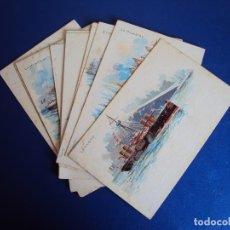 Postales: (PS-56186)COLECCION DE 10 POSTALES ILUISTRADAS MARINA DE GUERRA ITALIANA. Lote 122252251