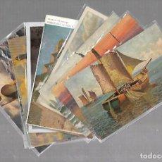 Postales: LOTE DE 11 POSTALES. DE BARCOS. ESCENAS CON MARINEROS, BARCOS, PESCADORES. VER FOTOS. Lote 122769935