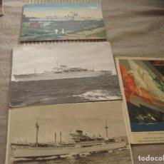 Postales: ANTIGUAS POSTALES BARCOS Y EXPOSICION ESPAÑOLA 1929 SEVILLA BARCELONA. Lote 123040431