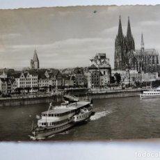 Postales: POSTAL - 1960 KÖLN AM RHEIN ALEMANIA - RHEINUFER - BARCOS . Lote 124093443