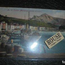 Postales: BARCOS - VILLA DE SOLLER - SOLLER - Nº.75 SOLLER MALLORCA , DETALLE DEL PUERTO CIRCULADA 1921 EDC. . Lote 124722407