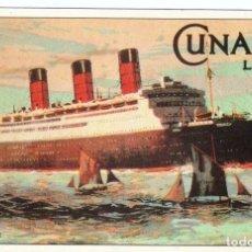 Postales: BERENGARIA 1912-1938 HAMBURG AMERICAN LINE Y CUNARD LINE. CIRCULADA 1991. Lote 124913895
