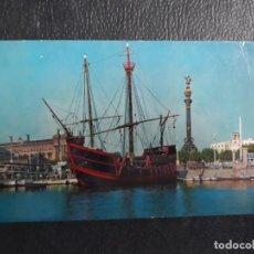 Postales: BARCELONA PUERTO CARABELA SANTA MARIA. Lote 125129959