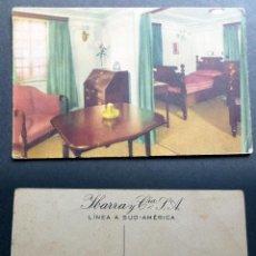 Postales: ANTIGUA POSTAL DE LA LINEA SUD -AMERICA,DEPARTAMENTO DE LUJO DEL CABO DE BUENA ESPERANZA. Lote 125155931