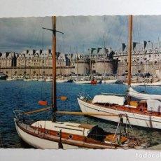 Postales: POSTAL - FRANCIA - SAINT- MALO - CITE CORSAIRE - LE BASSIN DES YACHTS - SERIE 1096. Lote 125715543