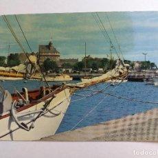 Postales: POSTAL - FRANCIA 1963 - SAINT - MALO - ILLE ET VILAINE - PUERTO DE YATES Y EL CASTILLO -SERIE 210-B. Lote 125747535