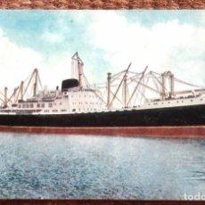 Postales: COMPAÑIA TRASATLANTICA ESPAÑOLA - M/N GUADALUPE. Lote 125879943