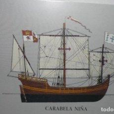 Postales: POSTAL CARABELA NIÑA - EDIC.SDAD.ESTATAL QUINTO CENTENARIO. Lote 126598843