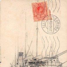 Postales: PAQUEBOT MIXTE LIGER. DE LA CÍE DE NAVIGATION SUD- ATLANTIQUE. Lote 127833603
