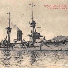 Postales: ESCUADRA ESPAÑOLA.- ACORAZADO ESPAÑA. Lote 127914867