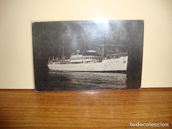 FOTO POSTAL BARCO CIUDAD DE VALENCIA ESCRITA (Postales - Postales Temáticas - Barcos)