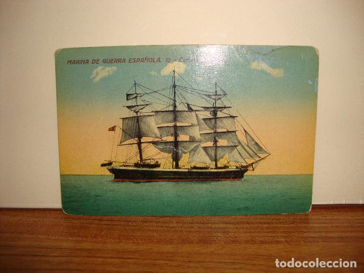 POSTAL MARINA DE GUERRA ESPAÑOLA CORBETA NAUTILUS ESCRITA (Postales - Postales Temáticas - Barcos)