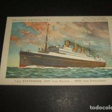 Postales: POSTAL BARCO STATENDAM HOLLAND AMERICA LINE. Lote 128532063