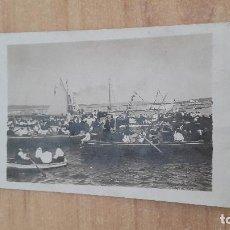 Postales: POSTAL FRAGATA - BARCOS - VELEROS - GENTE VESTIDA DE ÉPOCA - CREO PRINCIPIOS DEL 1900. Lote 128545491