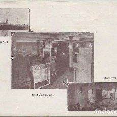 Postales: POSTAL TRAS TRASMEDITERRANEA BUQUE BARCO VAPOR ESCOLANO SERVICIO BARCELONA VALENCIA . Lote 130615683
