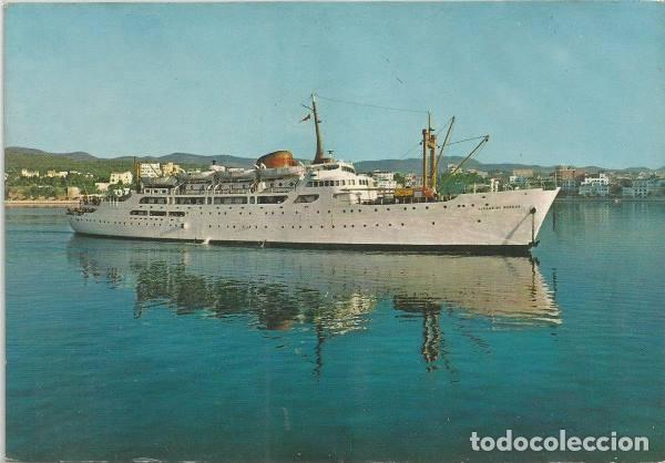 POSTAL BARCO BUQUE CIUDAD DE BURGOS TRAS TRASMEDITERRANEA 1960 (Postales - Postales Temáticas - Barcos)
