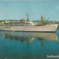 Postales: POSTAL BARCO BUQUE CIUDAD DE BURGOS TRAS TRASMEDITERRANEA 1960 . Lote 129996695