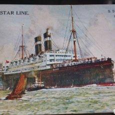 Postales: POSTAL BARCO RED STAR LINE ARABIC. Lote 130715775