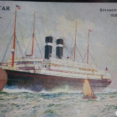 Postales: POSTAL DEL BARCO STEAMER LAPLAND RED STAR LINE. Lote 130716228