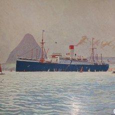 Postales: POSTAL DE TRANSATLÁNTICO CAP NORTE COMPAÑÍA HAMBURGUESA SUDAMERICANA. Lote 130718539
